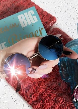 В наличии очки круглые лепсы синие зеркальные