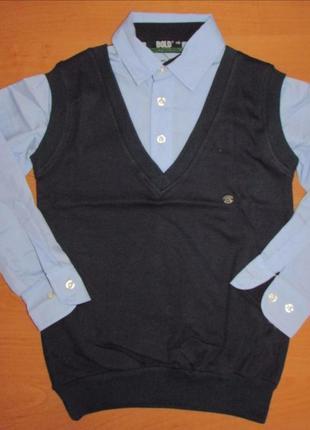 Красивая рубашка-обманка для мальчика