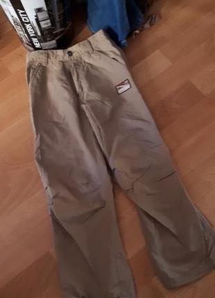 Фирменные брюки на подкладке осень теплый беж