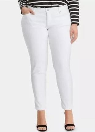 Стильные белые джинсы uk12