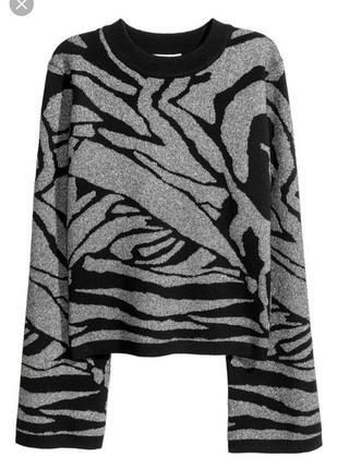 Глиттерный свитер с широкими рукавами от h&m