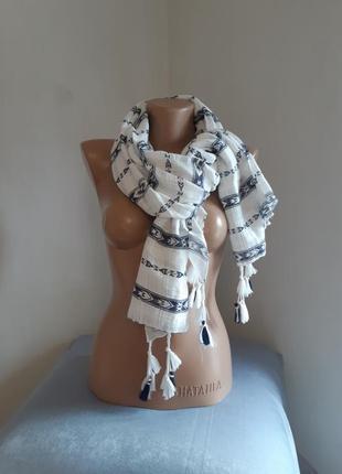 Дизайнерский шарф накидка clockhouse