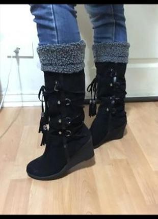 Сапоги и ботинки обувь торг танкетке демисезонные