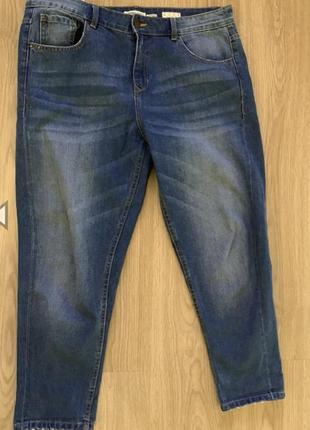 Американские джинсы бойфренды с высокой посадкой, укороченные, на 50 р