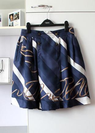 Шелковая юбка от zara, 100% шелк