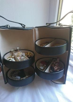 Органайзер тубус шкатулка дорожный для хранения украшений бижутерии