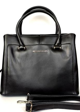 """Женская кожаная сумка """"sylvia"""" черная"""