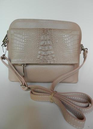 Кожаная женская сумочка кроссбоди vera pelle!