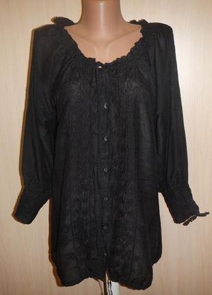 Легкая блуза с вышивкой culture p.s хлопок шелк