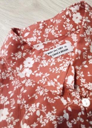 Брендовая рубашка цветы3 фото