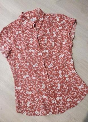Брендовая рубашка цветы5 фото