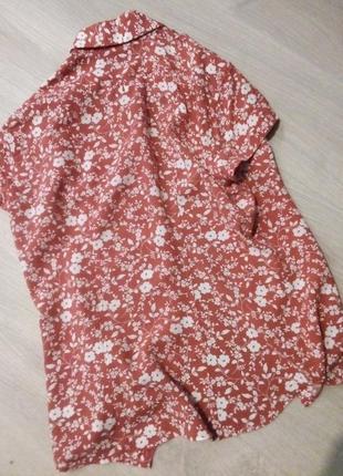 Брендовая рубашка цветы6 фото