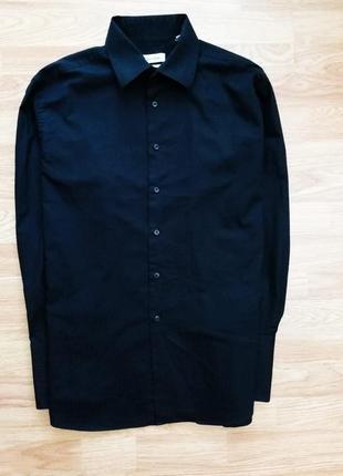 Мужская брендовая стильная рубашка - сорочка на запонки calvin klein - размер 48