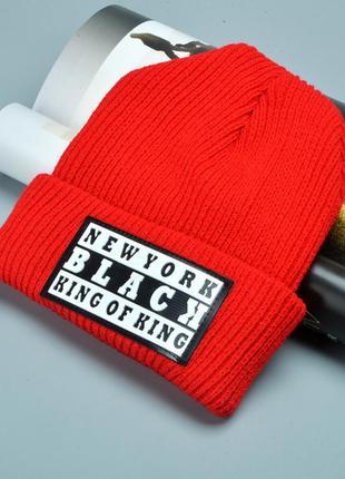13-48 стильна в'язана шапка new york вязаная шапка