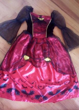 Карнавальное платье королева вампир на хэллоуин