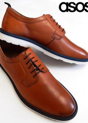Кожаные туфли дерби asos