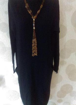 Шикарное шерстяное платье дорогого   бренда