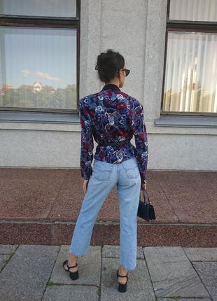 Блуза блузка жакет пиджак бархат винтаж подплечики двубортная пейсли принт огурцы розы