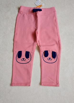 Трикотажні штанці з котиками на колінах