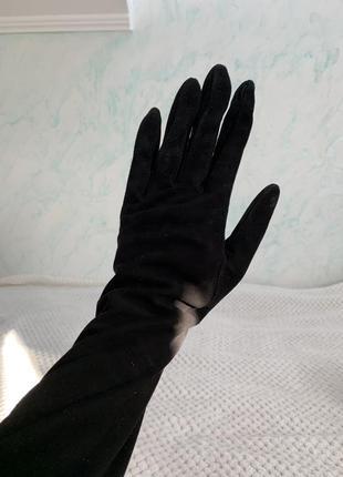Замшеві зимові рукавчики