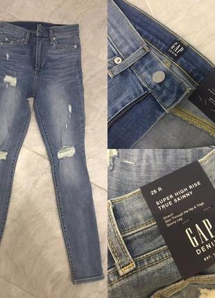 Новые джинсы скинни с высокой посадкой gap