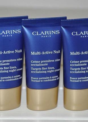 Ночной крем для лица  clarins multi-active nuit targets fine lines, revitalizing night
