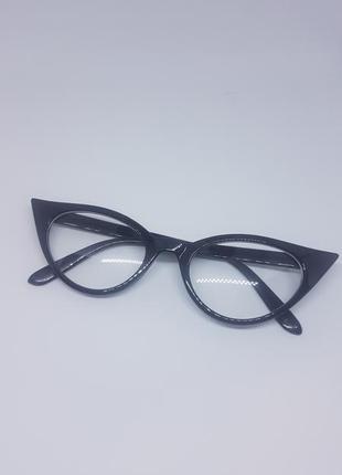 Женские имиджевые очки / очки нулевки кошачий глаз