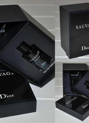 Набор dior sauvage в подарочной коробочке  аромат dior sauvage edt 10мл гель для душа