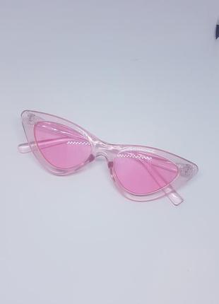 Женские солнцезащитные / имиджевые очки кошачий глаз / лисички / ретро