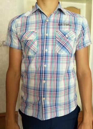 Летняя приталенная рубашка