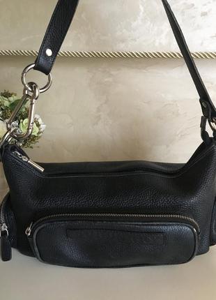 Кожаная номерная сумка кросс боди от burberry london