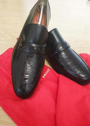 Мужские туфли bally классические лоферы