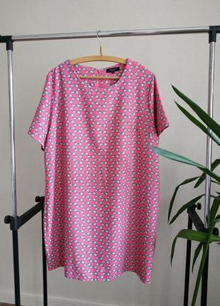 Короткое платье футляр принт new look большой размер