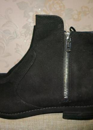Ботинки новые черного цвета на небольшом каблуке 37р., h&m1