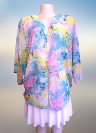 Нежная накидка с рукавом кимоно, новый тонкий кардиган без застежки