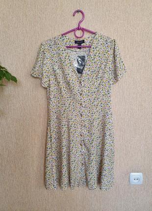 Нежное платье в цветочный принт  от new look, вискоза