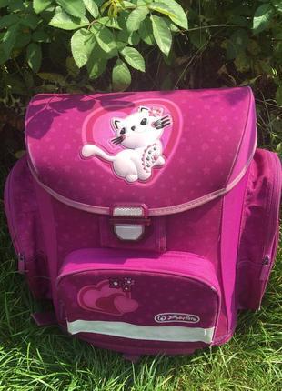 Рюкзак портфель для девочки розовый herlitz