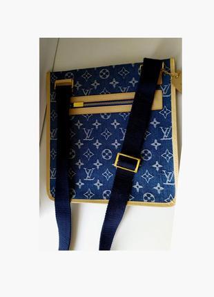 Модная кожано-джинсовая сумка
