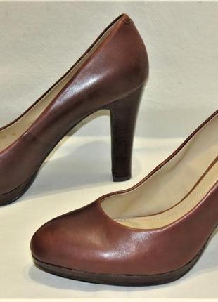 Туфли женские geox respira кожа размер 40 коричневые