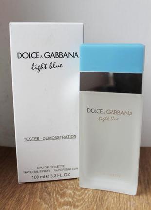 D&g light blue dolce & gabbana туалетная вода дольче габбана лайт блю тестер