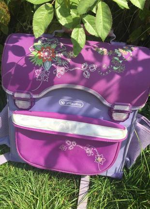 Рюкзак портфель для девочки фиолетовый herlitz