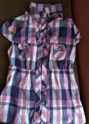 Клетчастая рубашка на девочку