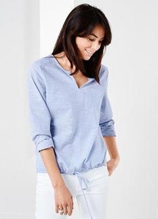 Хлопковая блузка сорочка рубашка tchibo (германия), eu 36