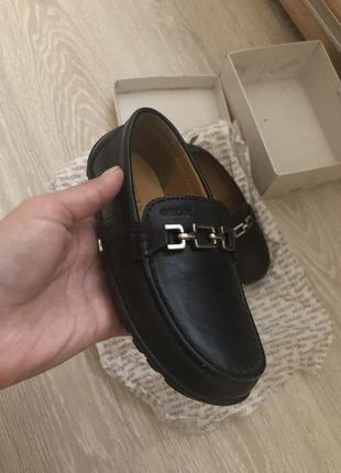 Кожаные туфли,макасины geox