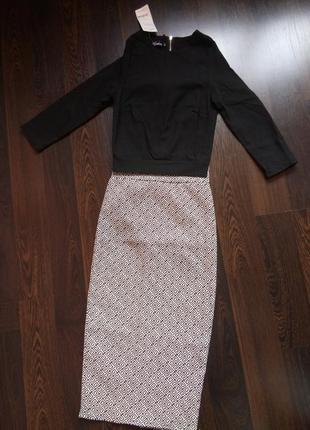 Новенький стильный костюм топ + юбка, monika (моника) размер хxs