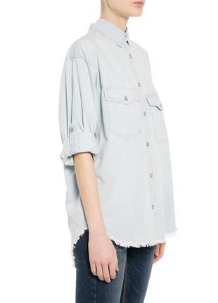 Джинсовая рубашка mango с необработанным низом, s