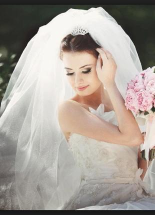 Фата свадебная очень пышная