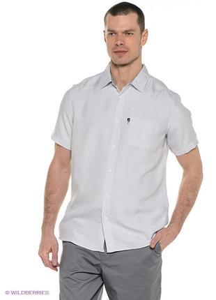 Белая рубашка ,короткий рукав,хлопок,trussardi,оригинал