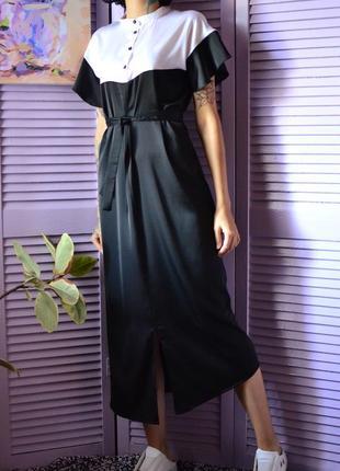 Роскошное шелковое платье миди