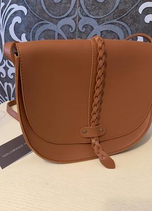 28*24*8 см сумка коричневая french connection